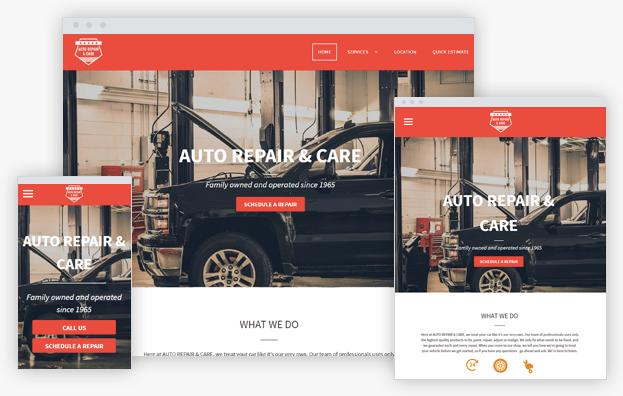 Reddrop Media Auto Repair Template
