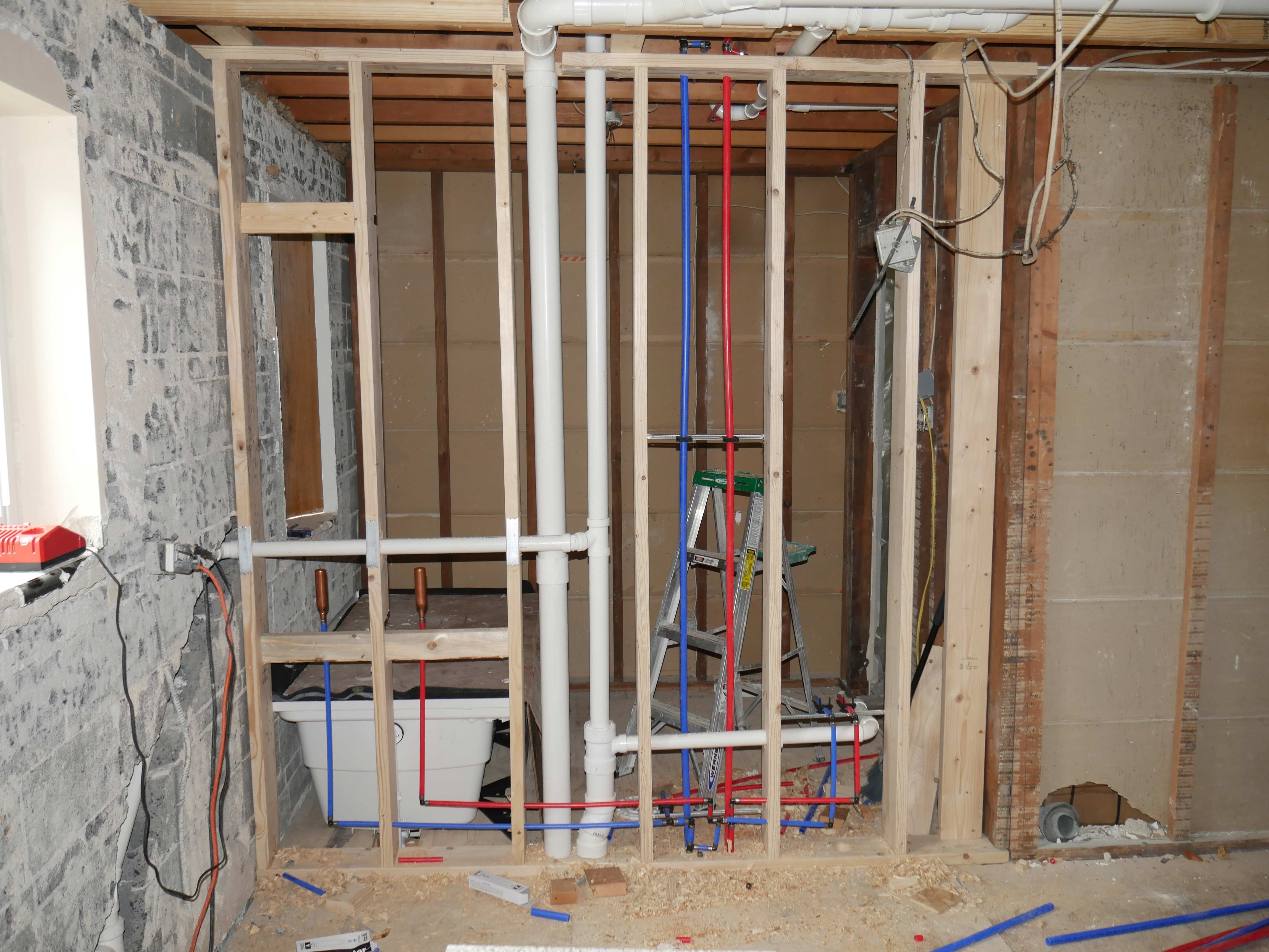 Ongoing plumbing project