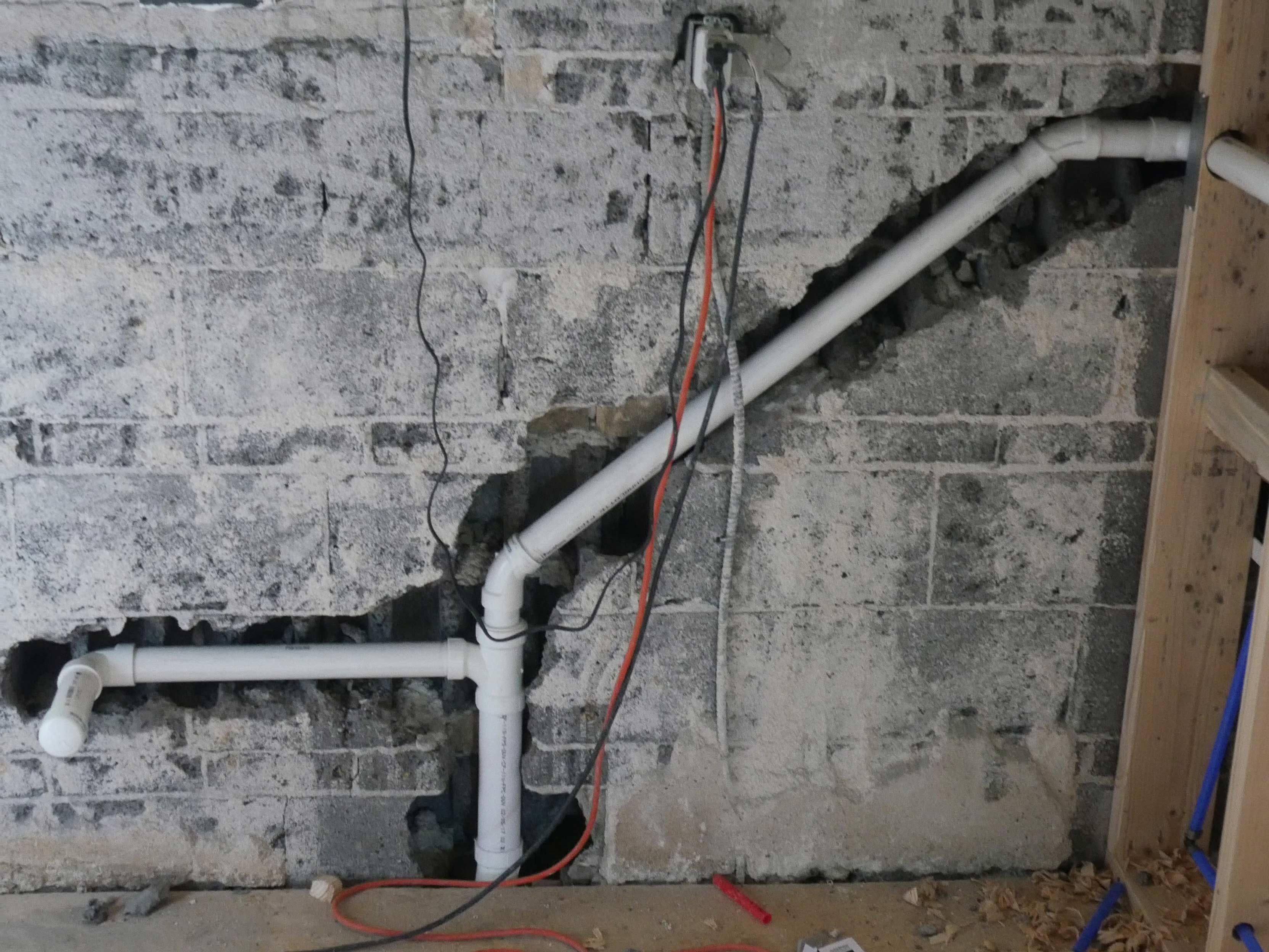 Ongoing plumbing work