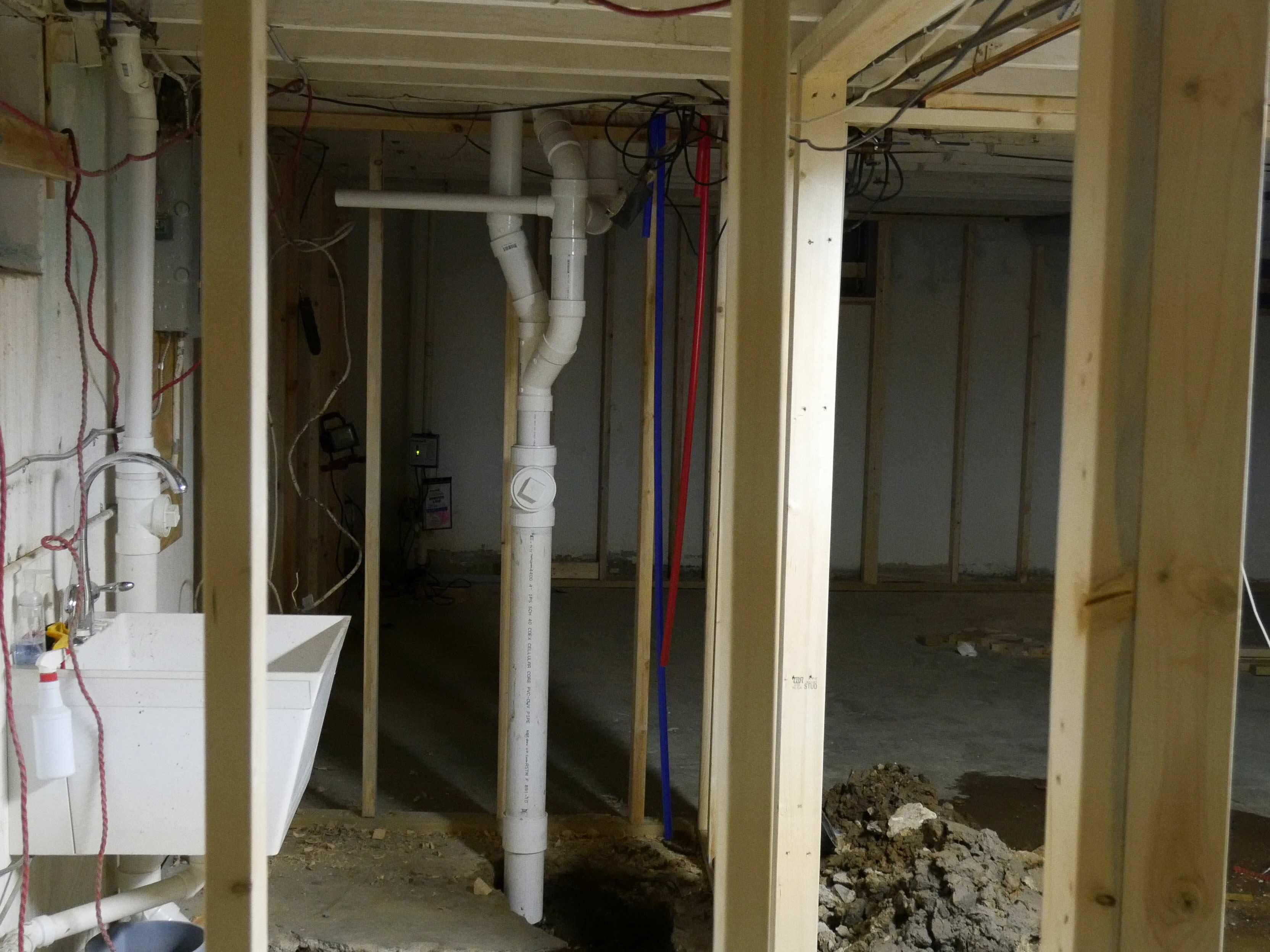 Ongoing plumbing task