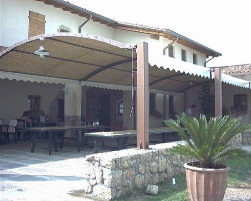 copertura portico arcato
