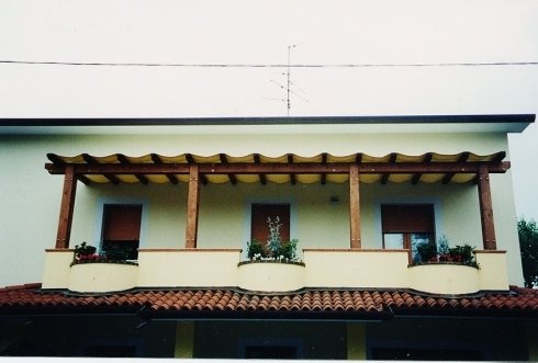 copertura portico balcone