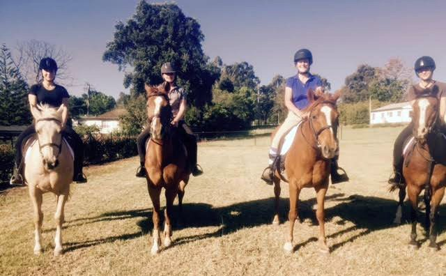 mothers horse riding group