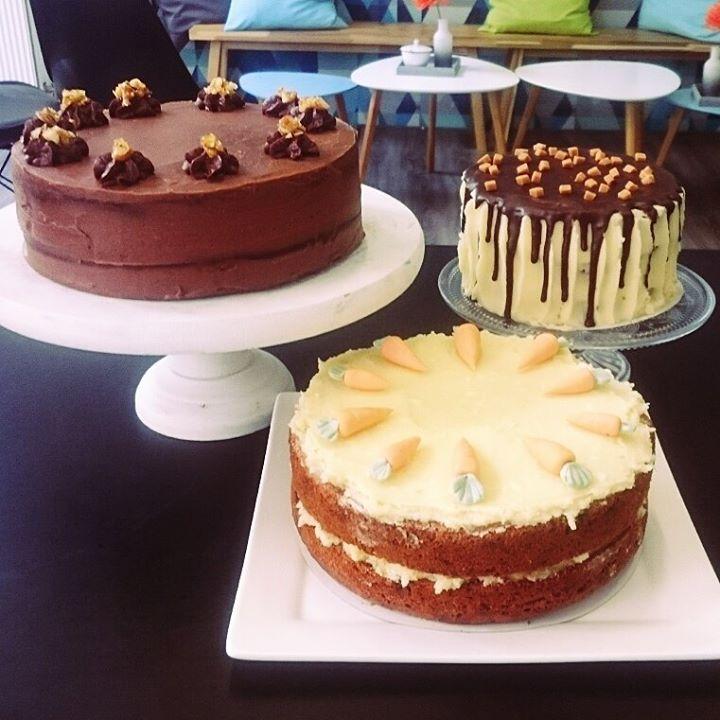 taarten, carrot cake, dripcake