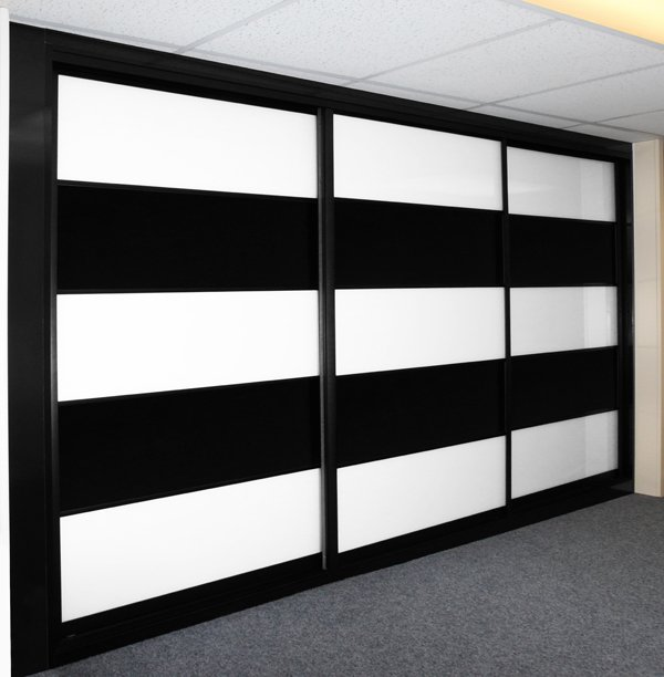 Black and White Glass Multi Panel