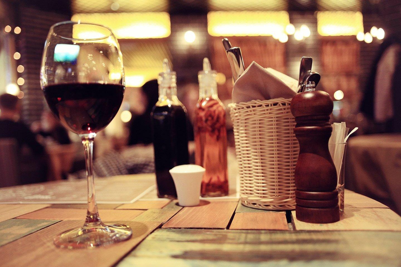 Bicchiere di vino rosso al Ristorante Beppe Achilli a Santa Margherita Ligure