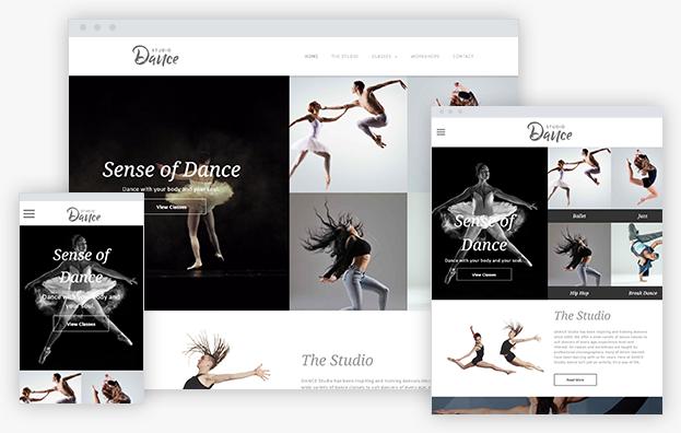 Reddrop Media Dance Studio Template