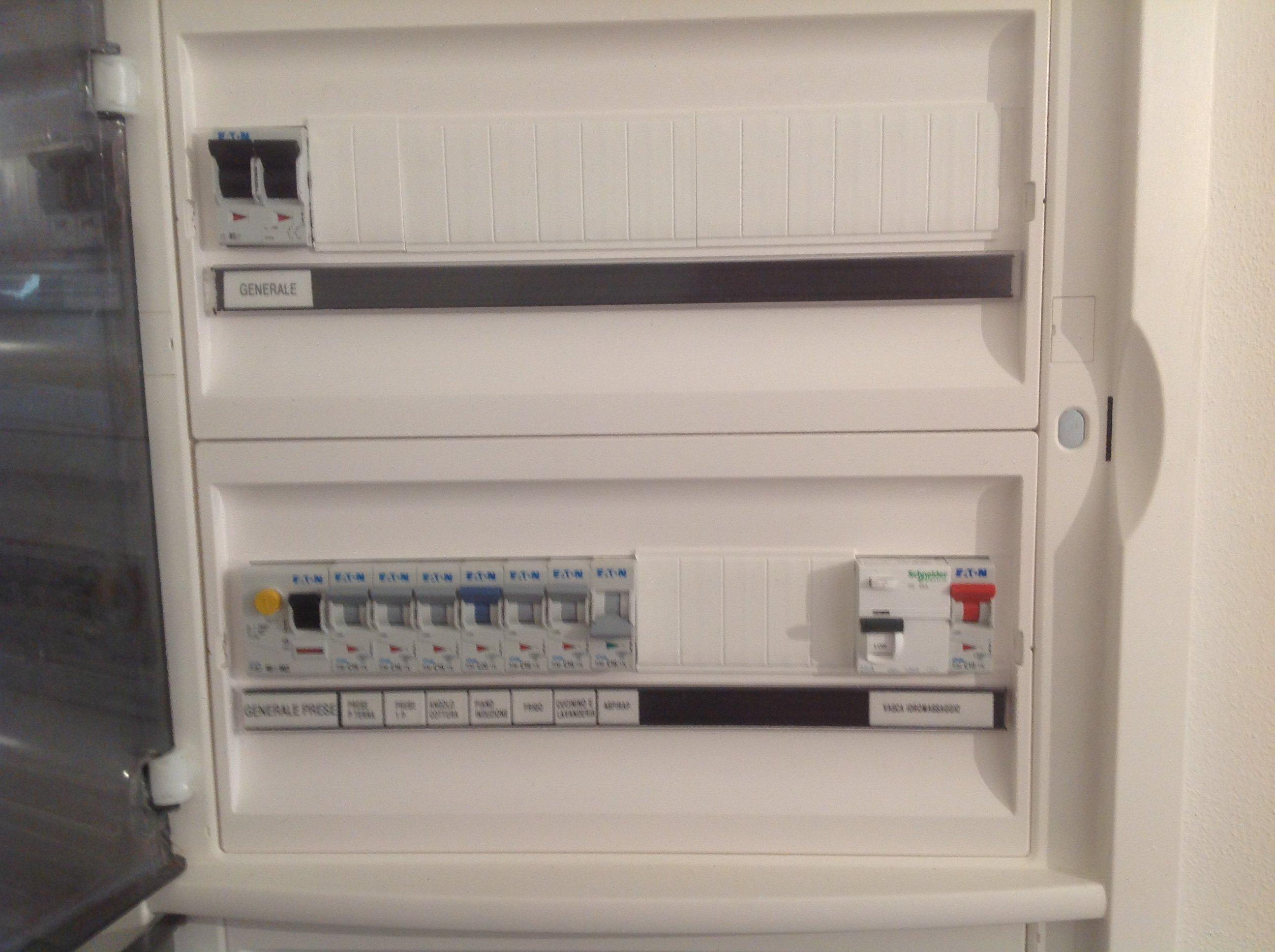 quadro comando contatore impianto elettrico