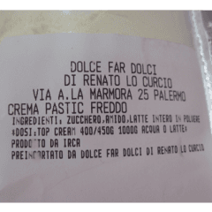 Preparato per crema pasticcera, crema pasticcera artigianale