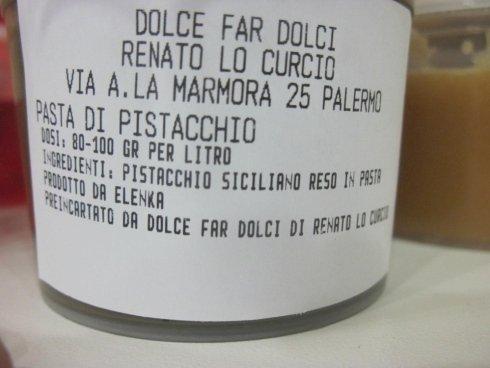 Pasta di pistacchio, base gelato al pistacchio