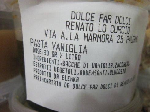 Pasta di vaniglia, base gelato alla vaniglia