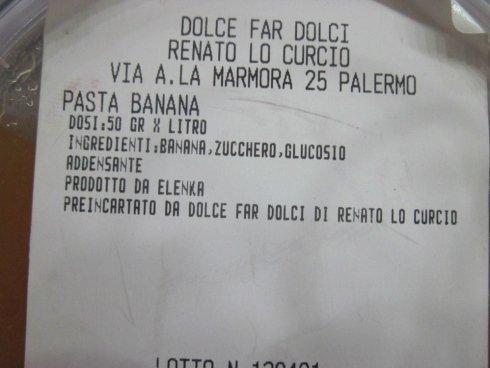 Pasta di banana, base gelato alla banana