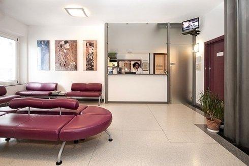 La segreteria dello studio dentistico.