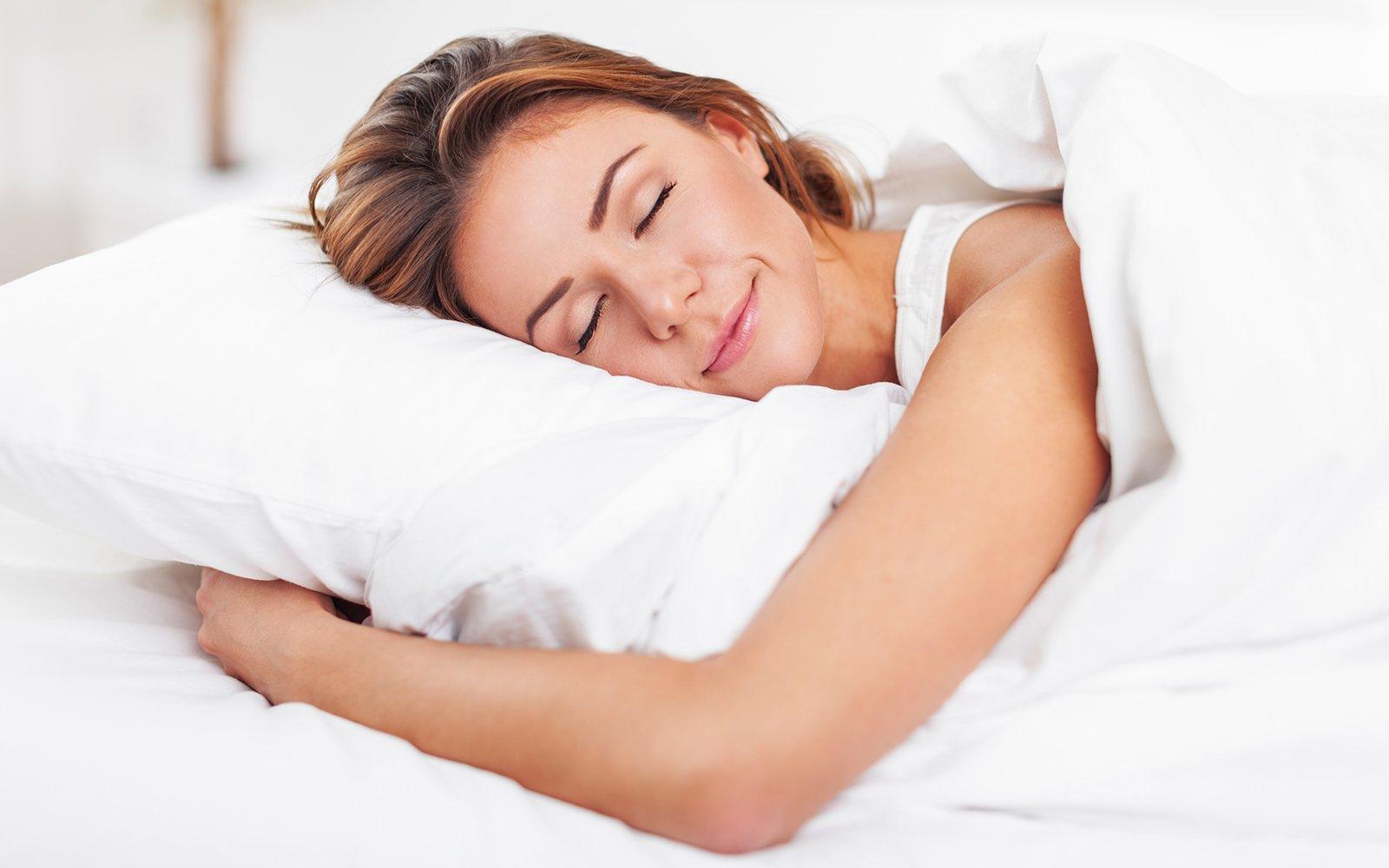 una donna che dorme