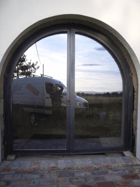 Porta, Acciao Palladio, Infisso ad Arco, Pitigliano (GR)