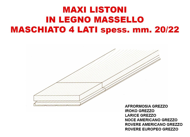descrizione maxi listoni in legno massello