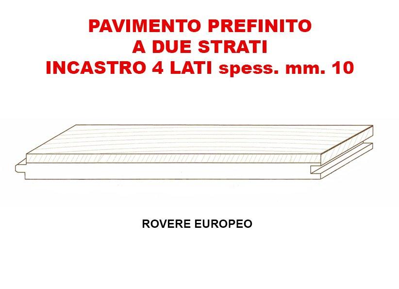volantino di PAVIMENTO PREFINITO A DUE STRATI INCASTRO 4 LATI SPESS.MM.10