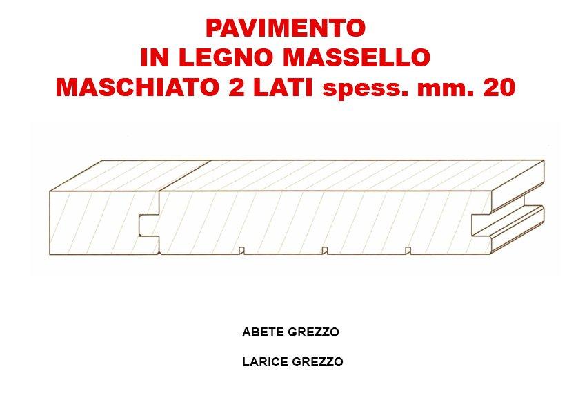 volantino di PAVIMENTO IN LEGNO MASCHIATO 2 LATI SPESS.MM.20