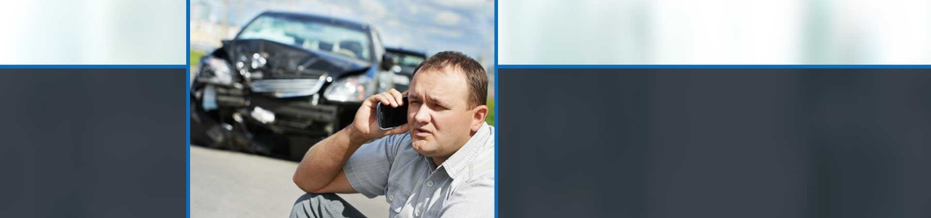Individual calling after the accident