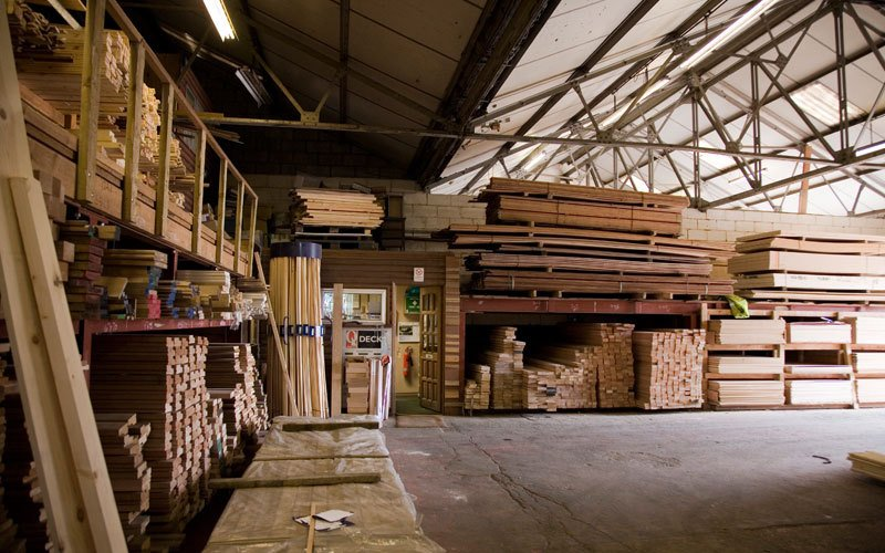 Wide range of wood available at teh warehouse