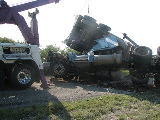 Car towing after multiple car wreck