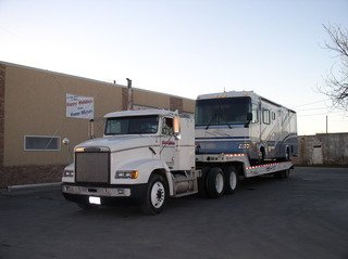 Tow truck service for cars, busses, and RVs
