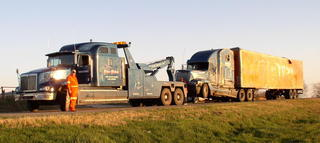 Tractor trailer towing in Winters, TX