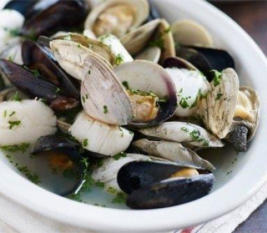cozze, vongole, frutti di mare