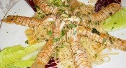 primi di pesce, gamberoni, pasta