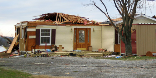 Damaged house for amazing water damage professionals in Pagosa Springs, CO