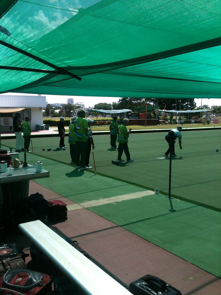 group of players bowling