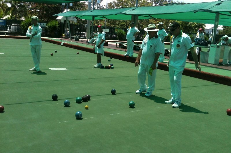 group of bowlers participating in a game