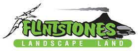 flintstones landscape land logo
