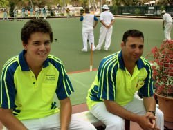 competitors in a bowling club