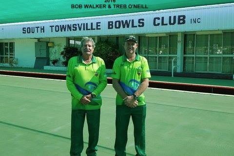 two competitors at south townsville bowls club