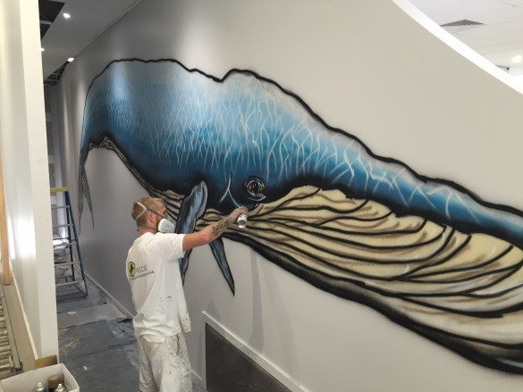 hunter street painting whale