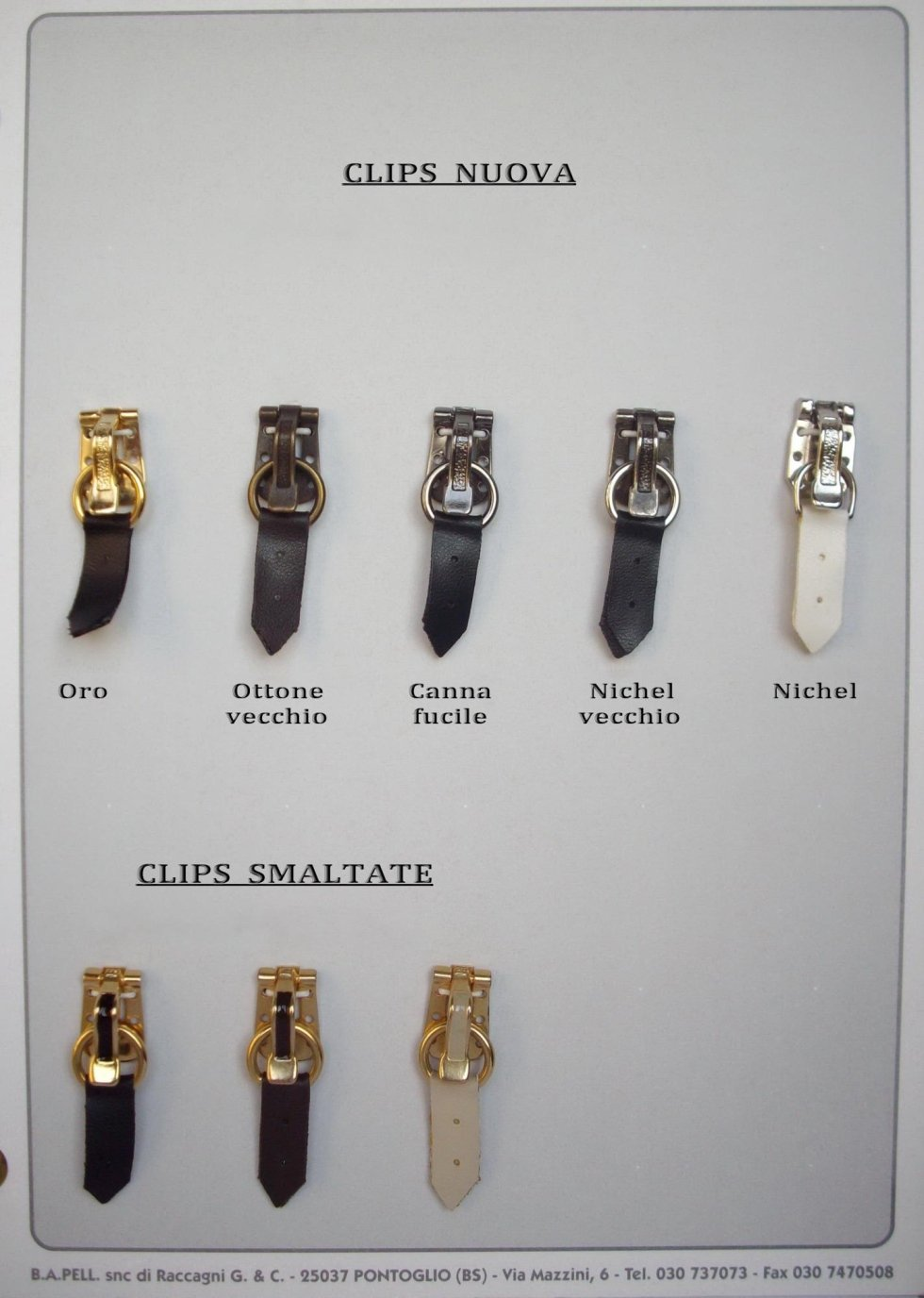 Clips galvanizzate