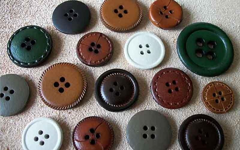 buttons with holes
