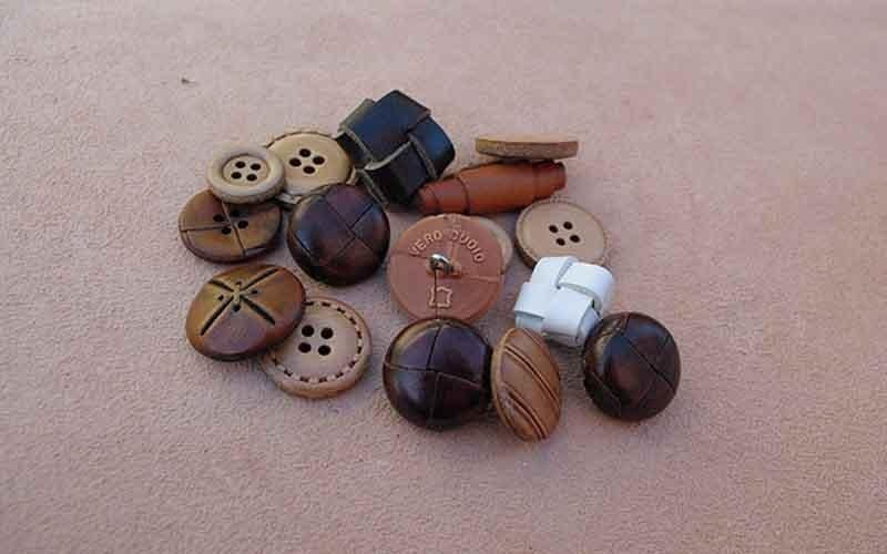 real leather buttons