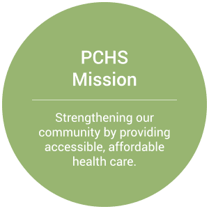 PCHS Mission: strengthening our community by providing accessible, affordable health care