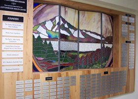 Mural at our health center