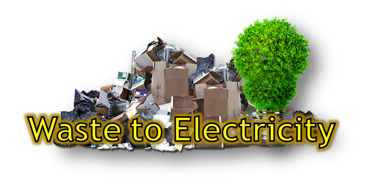 Waste to Electricity Button