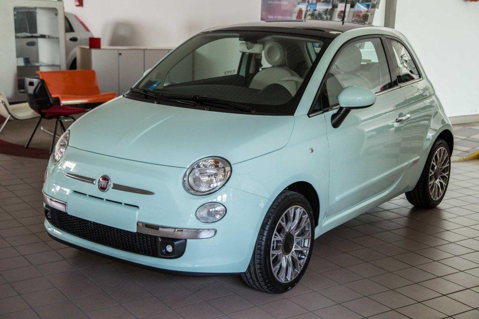 Fiat 500 verde acqua