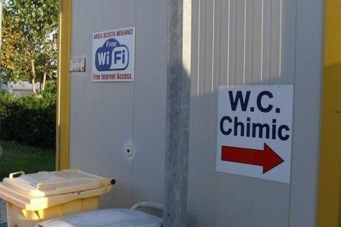 Scarico wc chimici