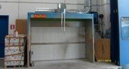 cabina di verniciatura a secco