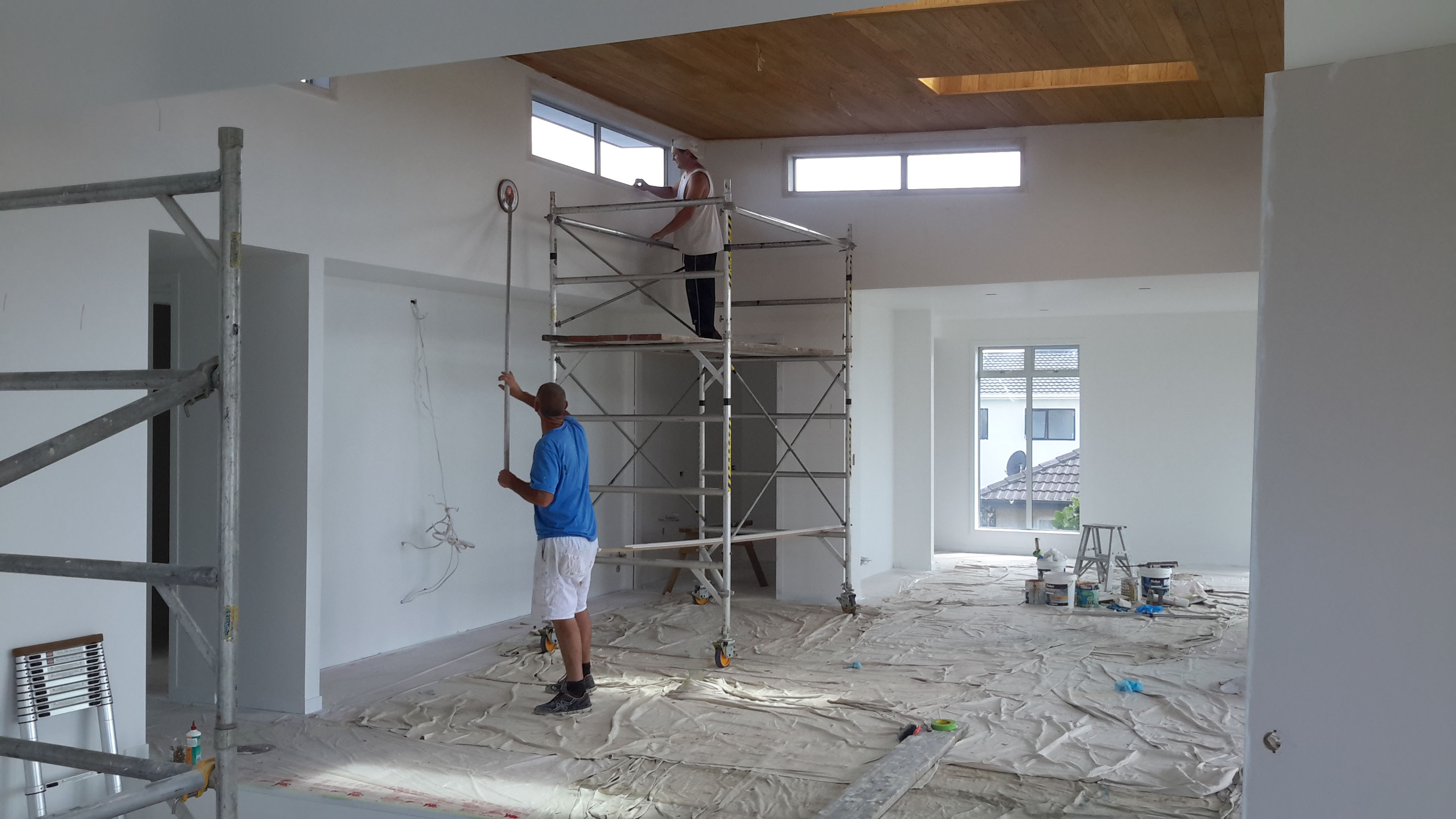 Painting the complete interior of a brand new house by Wayne Webb Painters