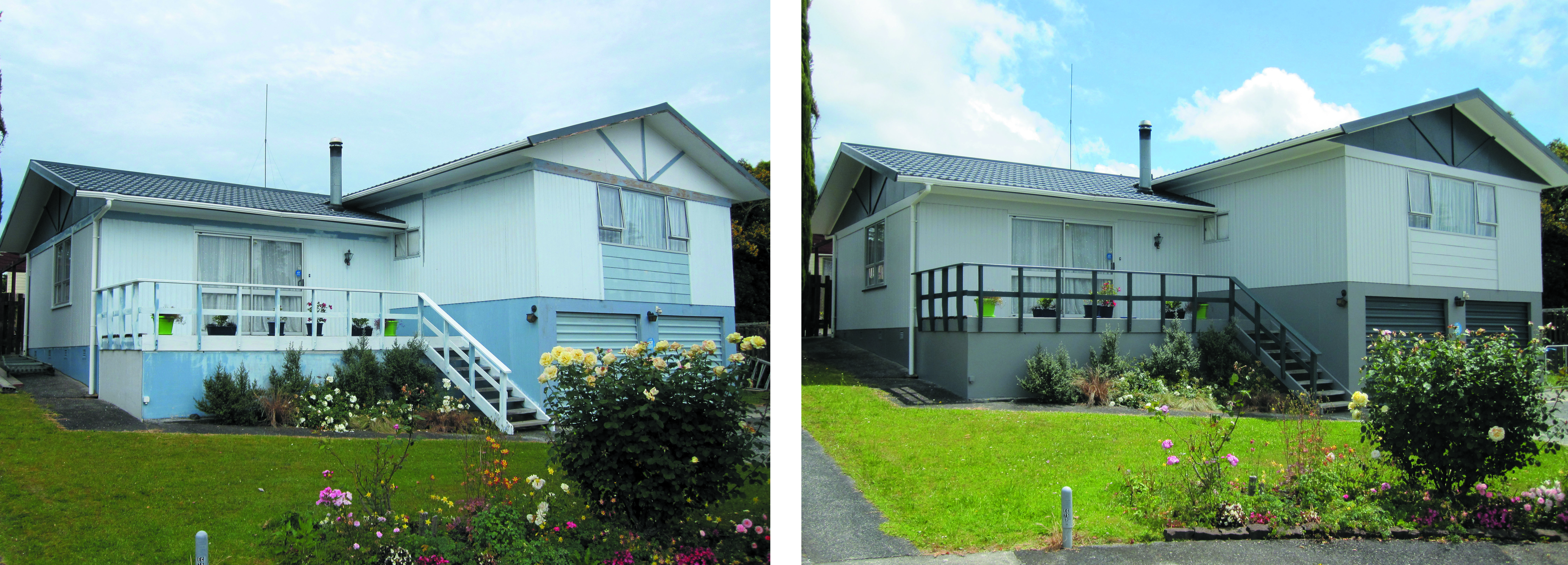 Before and after residential home in Whangarei by Wayne Webb Painters