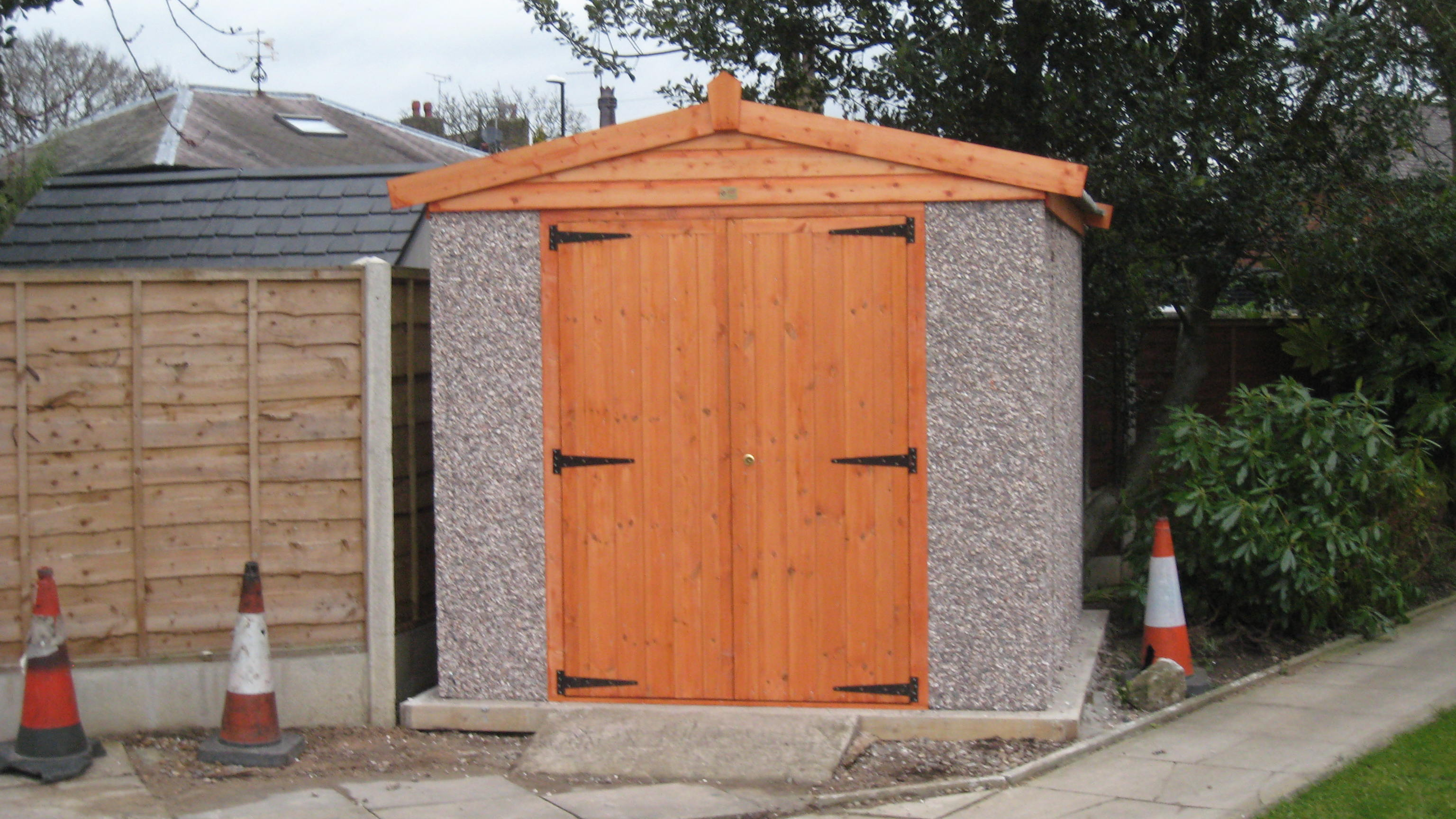 Pudsey Concrete - Apex shed