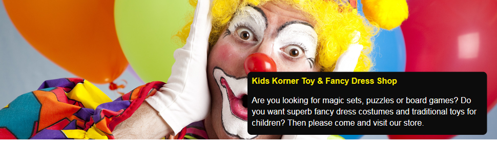 When you want a traditional toy shop in Herne Bay call Kids Korner Toy & Fancy Dress Shop