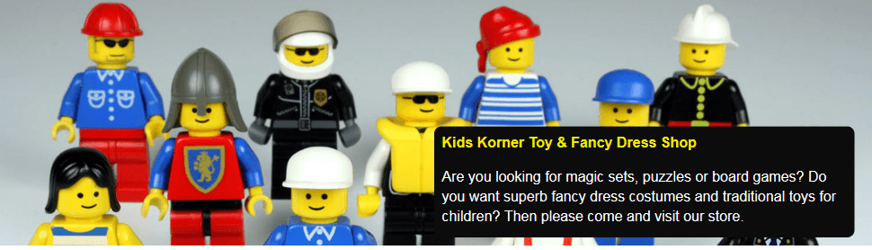 If you are looking for Lego, LeapFrog or Meccano in Herne Bay call Kids Korner Toy & Fancy Dress Shop